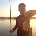 Kids really enjoy catching sunfish from our docks.  There is always alot of excitement.